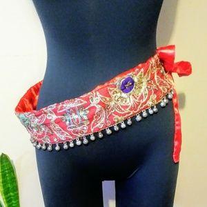 Accessories - Vintage Handmade Bellydance Gypsy Belt w/Bells